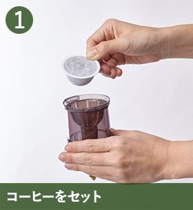 1 コーヒーをセット